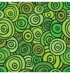 Pop art retro seamless pattern green vector image