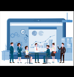 presentation project business people vector image