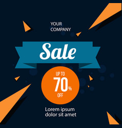 sale up to 70 off template design vector image