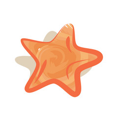 sea star icon isolated logo on white vector image