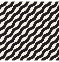 Seamless Hand Drawn Wavy Diagonal Stripes vector image