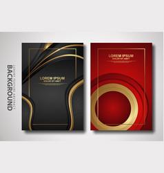 Set cover design template with futuristic vector