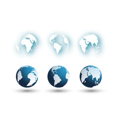 Set of different globes 2 vector
