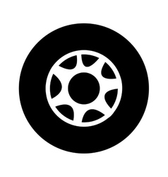 single wheel icon image vector image