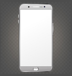 Smartphone phone with blank screen isolated vector