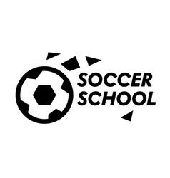 soccer school banner professional sports vector image