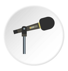 Sound recording equipment icon circle vector