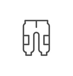 sport pants line outline icon vector image
