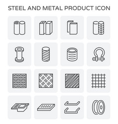 Steel metal product vector