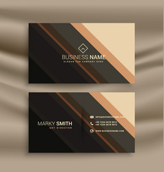 stripes business card with diagonal lines vector image