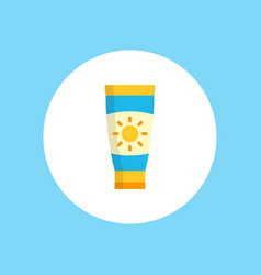 sun cream icon sign symbol vector image