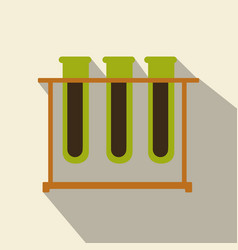 test tubes icon with long shadow flat design vector image