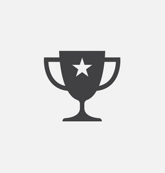 throphy icon vector image