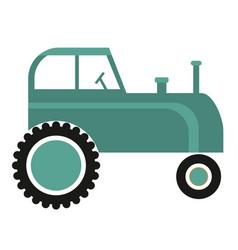 tractor simple art geometric vector image