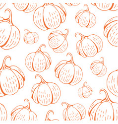 umpkin pattern on white vector image