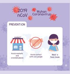 Virus covid19 19 prevention infographic avoid vector