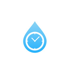 water time logo icon design vector image