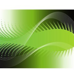 Waves of green background vector
