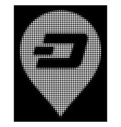 white halftone dash pin icon vector image