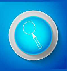 white magnifying glass icon search focus zoom vector image