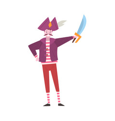 Young man dressed as pirate guy in festival vector