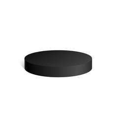 black cylinder 3d geometric shape mock up vector image vector image