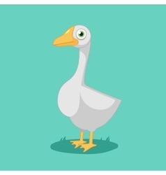 funny cartoon Goose vector image