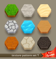 ground texture patterns for game-set 1 vector image