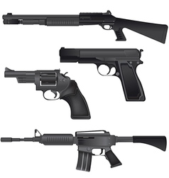 Gun Weapon Crime War Isolate vector image vector image