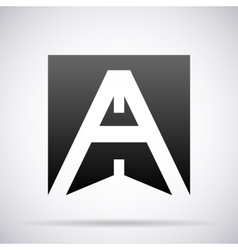 Letter A icon Design template vector image vector image