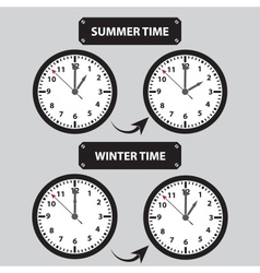 summer and winter time shifting icons eps10 vector image vector image