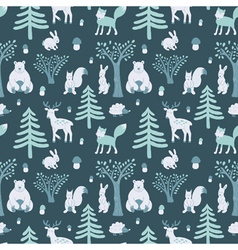 wild winter forest vector image vector image