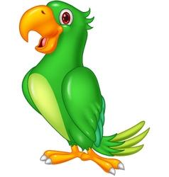Cartoon happy parrot posing vector