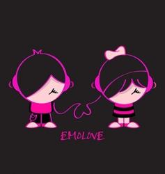 Emo love vector image vector image
