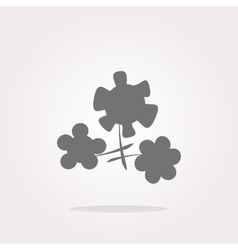 Flower app web glossy icon button Web Icon vector image vector image