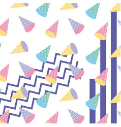 memphis style pattern repeating geometric shape vector image