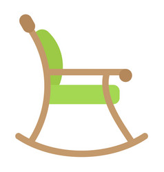 rocking chair flat icon furniture and interior vector image vector image