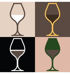 WineGlassVariations vector image vector image