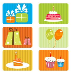 birthday template vector image