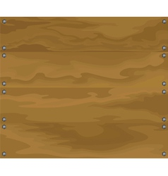 Brown wood vector image vector image