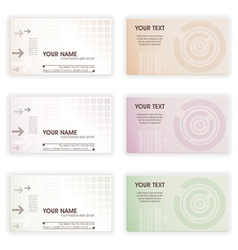 collect business cards in different colors element vector image