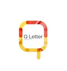 Minimal Q font or letter logo design vector image