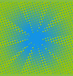 retro rays comic blue green background vector image vector image