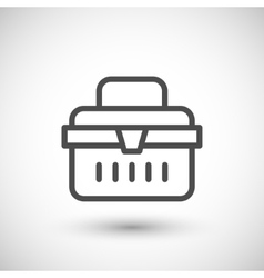 Toolbox line icon vector image