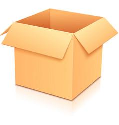 Yellow empty paper box vector image