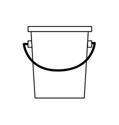 bucket fishing equipment object outline vector image vector image
