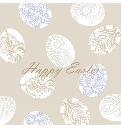 Happy Easter card with eggs vector image vector image