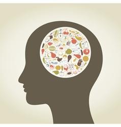 Head food4 vector image vector image