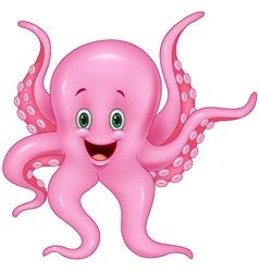Pink Octopus vector image vector image