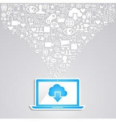 Social media network notebook vector image vector image